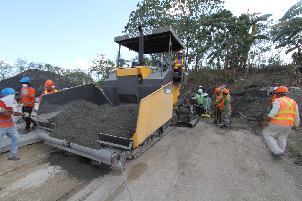 VolvoABG Paver placing RCC pavement