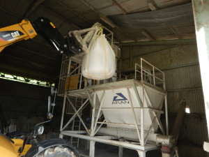 Aran Cement Bag unloading and transfer system